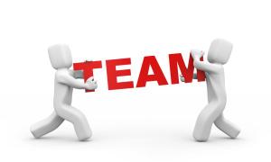 Ein Team muss gut zusammen arbeiten.