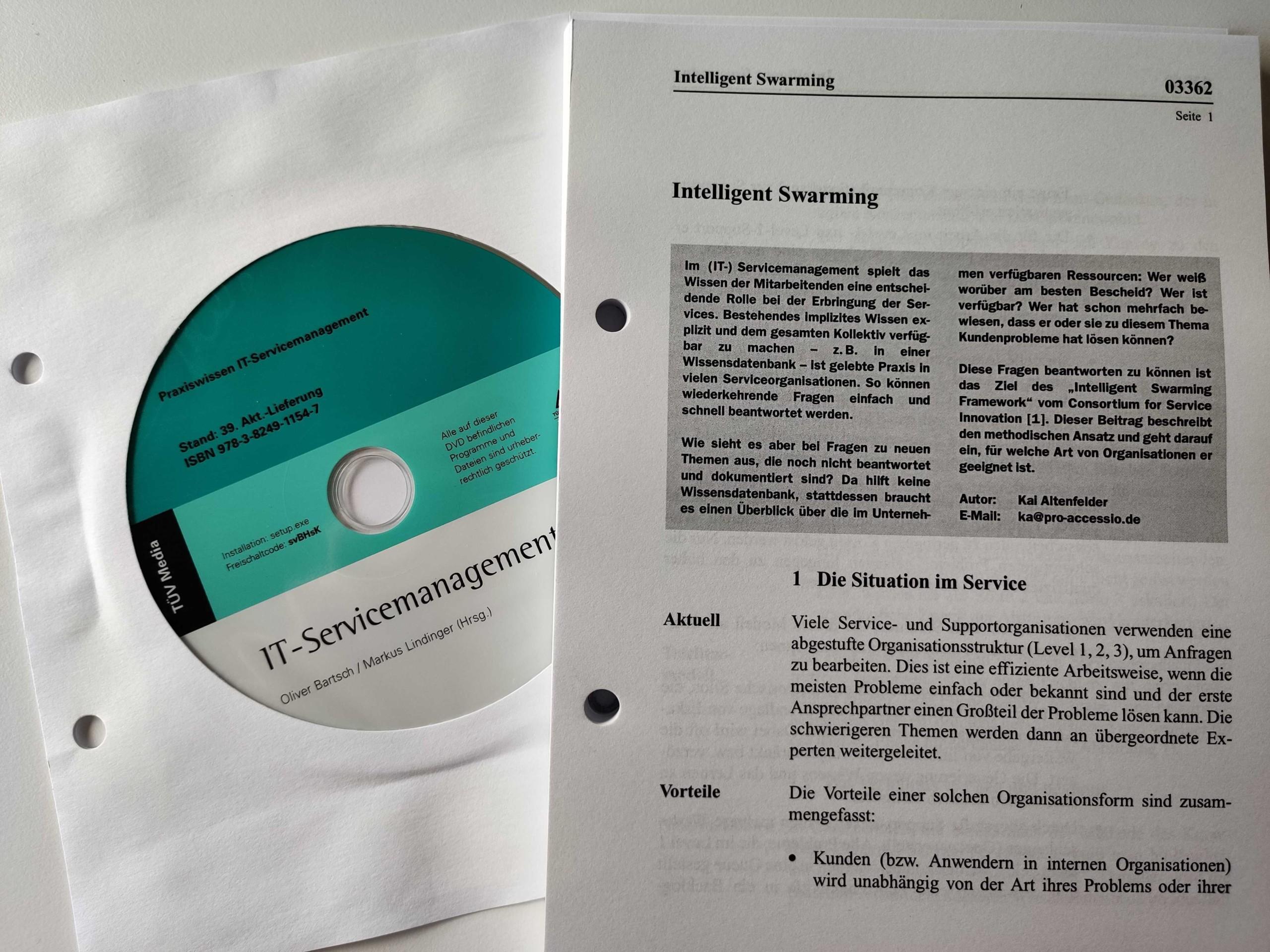 Intelligent Swarming im aktuellen ITSM-Handbuch der TÜV Media
