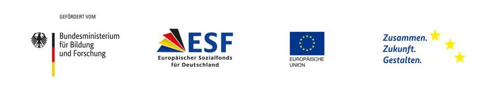 Logos BMBF ESF EU