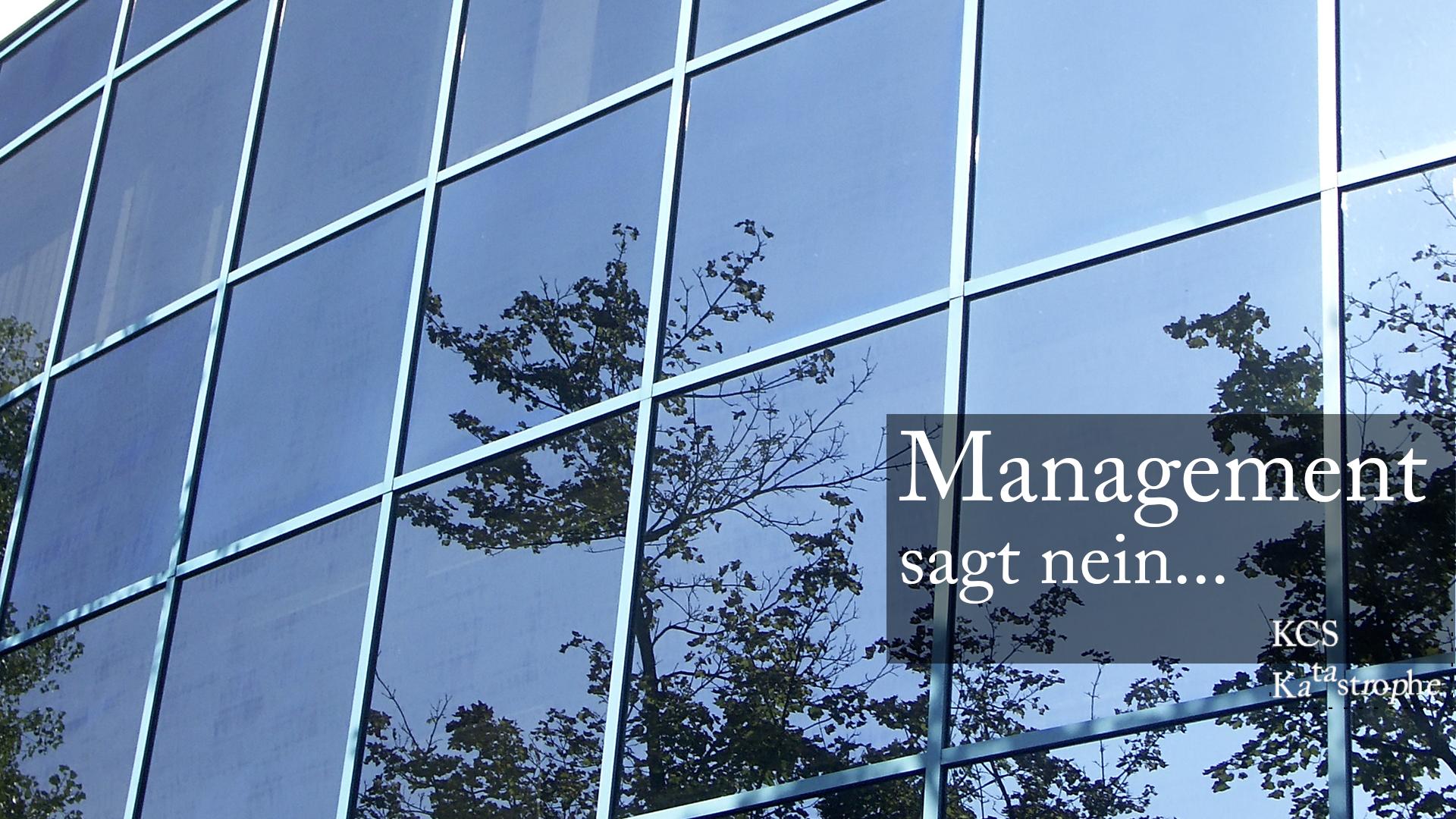 Was tun, wenn das Management den Stecker zieht?
