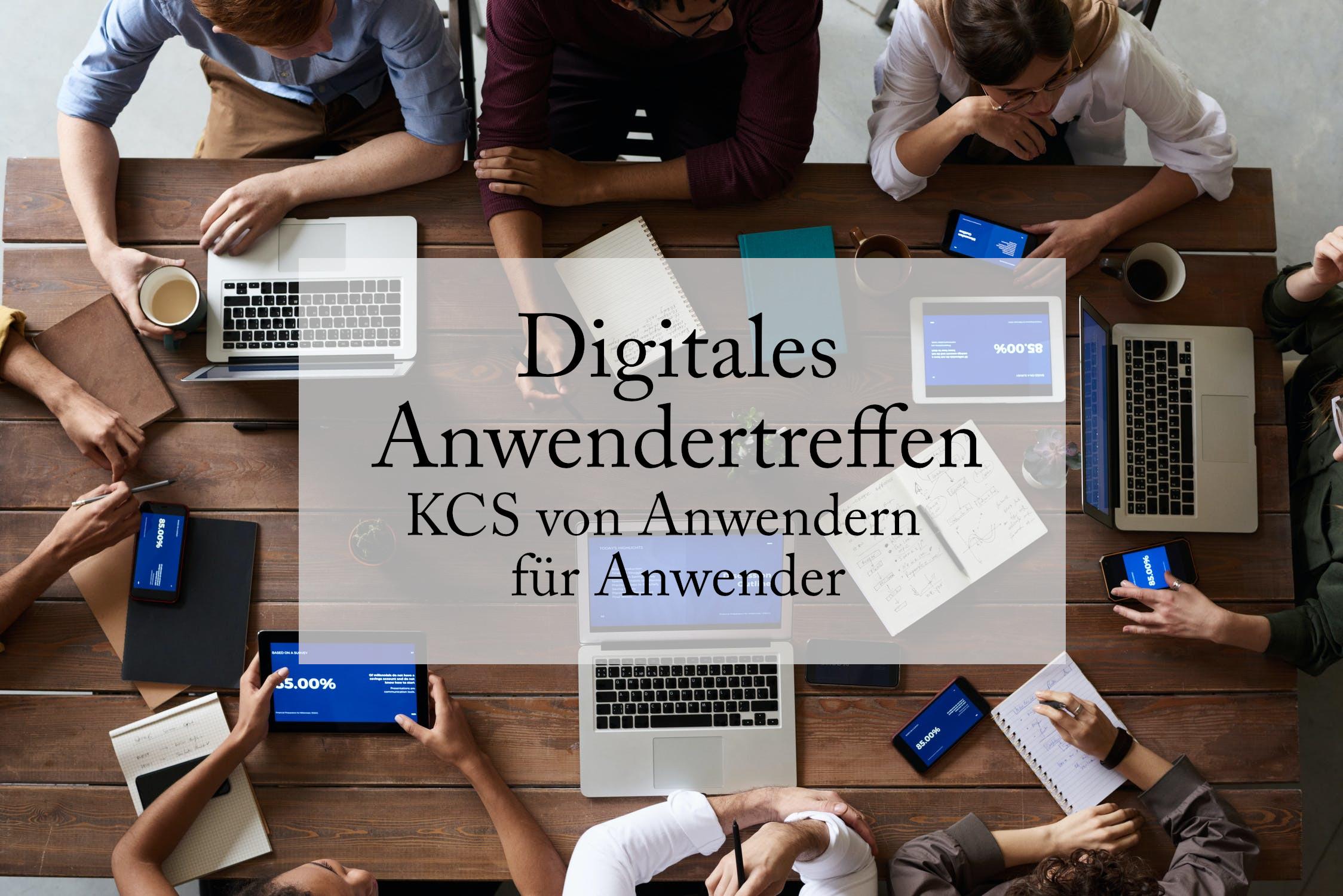 Unser digitales Amwendertreffen findet alle 2 Monate statt.