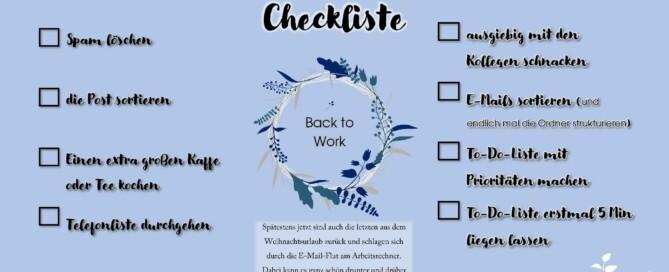 Back to Work Checkliste von pro accessio - unsere neuen Checklisten sind da!