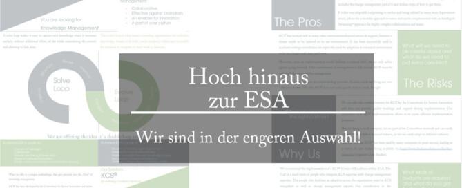 pro accessio steuert einen Vorschlag zum Wissensmanagement bei der ESA bei